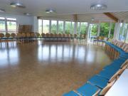 Unser größter Saal, mit direktem Ausgang zum Außengelände …