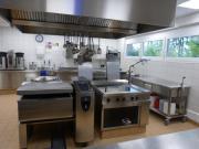 In unserer modernen Küche, seit 2017 in Betrieb, …