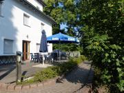 """Die Terrasse mit Eingang zum """"Heinrich Montag – Saal"""""""